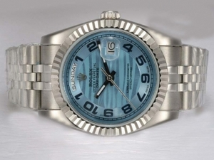 Legal Rolex Day-Date Automatic com Dial Azul AAA Relógios [W7C6]