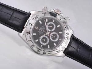 Cool Rolex Daytona Working Chronograph with Black Dial AAA Watches [L7U2]