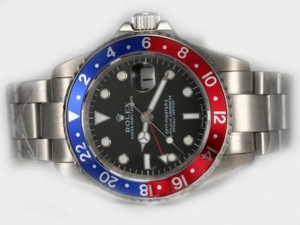 Cool Rolex GMT-Master II Automatic With Red / Blue Bezel-Updated Version AAA Watches [C2C1]
