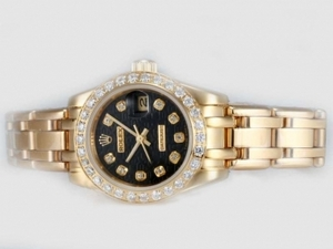Cool Rolex Masterpiece Automatic Full Kulta Timantti Kehys ja Me