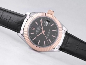 Fancy Rolex Datejust Automatic Tow Tone Case with Black Dial-39mm New Edition AAA Watches [Q3K6]