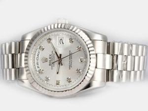 Fancy Rolex Day-Date Automatic Diamond Marking with White Dial AAA Watches [M5J7]