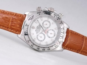 Fancy Rolex Daytona Working Chronograph with White Dial-Stick Marking AAA Watches [O6X1]