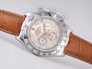 Fancy Rolex Daytona Working Chronograph with Beige Dial-Stick Marking AAA Watches [U3D4]