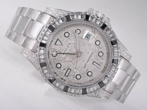 Fancy Rolex GMT-Master II Automatic CZ Diamond Bezel with Diamond Dial AAA Watches [O4C2]