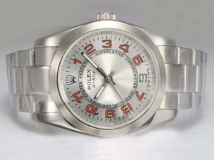 Gorgeous Rolex Air-King Oyster Perpetual Automatic with White Dial 2007 Model AAA Watches [H8K6]