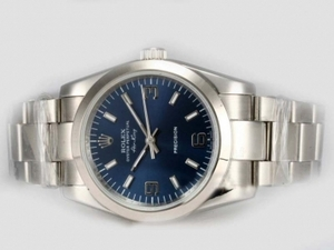 Gorgeous Rolex Air-King Precision Automatic with Blue Dial AAA Watches [V1U1]