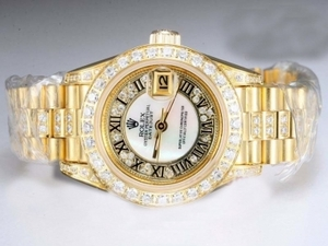 Gorgeous Rolex Datejust Automatisk Fuld Guld med Diamant Bezel o