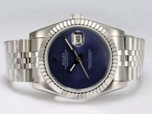 Gorgeous Rolex DateJust Automatic with Blue Dial AAA Watches [H3N7]