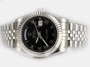 Gorgeous Rolex Day-Date Automatic with Black Dial-Roman Marking AAA Watches [N2L7]