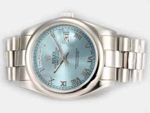 Gorgeous Rolex Day-Date Automatic with Blue Dial AAA Watches [E9D7]