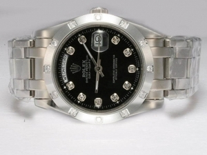 Gorgeous Rolex Masterpiece Automatic Diamond Marking with Black Dial AAA Watches [O4M5]
