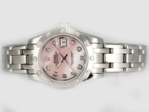 Gorgeous Rolex Masterpiece Automatic Diamond Marking with Pink Dial AAA Watches [N4S9]