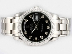 Great Rolex Masterpiece Automatic Diamond Bezel and Marking with Black Dial AAA Watches [M1V5]