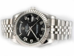 Modern Rolex Day-Date Automatic with Black Dial-Number Marking AAA Watches [M4K3]
