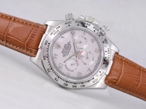 Modern Rolex Daytona Working Chronograph with White Dial-Number Marking AAA Watches [P4U7]