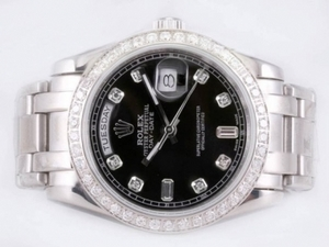 Modern Rolex Masterpiece Automatic Diamond Marking and Bezel with Black Dial AAA Watches [T8R5]