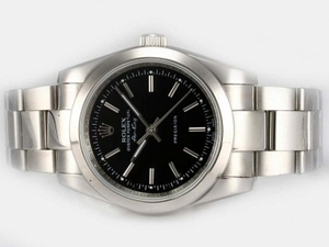 Perfect Rolex Air-King Oyster Perpetual Automatic with Black Dial AAA Watches [N1U3]