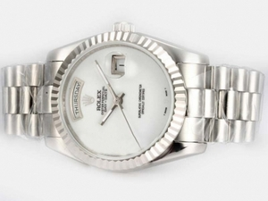 Perfect Rolex Day-Date Automatic with White Dial AAA Watches [G1L2]