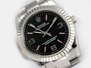 Populære Rolex Air-King Oyster Perpetual Automatisk med Black Dial AAA Klokker [S9W1]