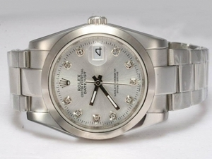 Popular Rolex DateJust Automatic Diamond Marking with Silver Dial AAA Watches [T3F4]