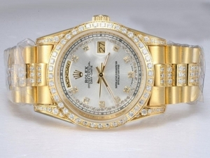 Popular Rolex Day-Date Automatic Full Gold with Diamond AAA Watches [O5A1]