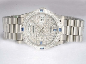 Popular Rolex Day-Date Automatic with Diamond Bezel and Dial AAA Watches [A7X2]