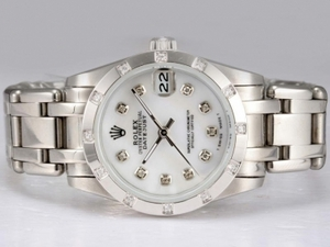 Popular Rolex Masterpiece Automatic Diamond Bezel and Marking with White Dial AAA Watches [R1K1]