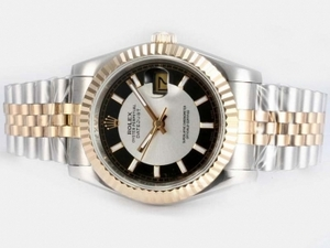 Quintessential Rolex DateJust Automatic Two Tone with White Dial-New Version AAA Watches [P9K6]