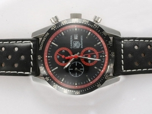 Cool Tag Heuer Carrera Chronograph Automatic with Black Dial AAA Watches [L1F5]