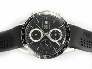 Cool Tag Heuer Carrera Chronograph Automatic with Black Dial-Deployment AAA Watches [D5G5]