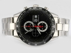 Cool Tag Heuer Carrera Working Chronograph with Black Dial and Bezel AAA Watches [T8V3]