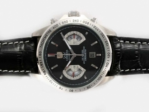 Cool Tag Heuer Grand Carrera Calibre 17 Working Chronograph with Black Dial AAA Watches [U4T6]