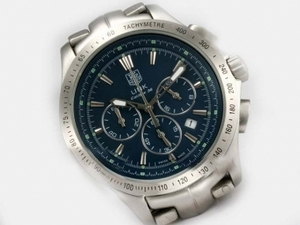 Cool Tag Heuer Link Calibre 36 Working Chronograph with Blue Dial AAA Watches [I1V8]