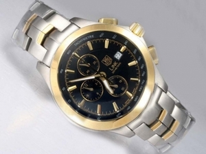 Fancy Tag Heuer Link 200 Meters Working Chronograph Two Tone AAA Watches [H4V6]