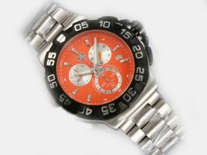 Gorgeous Tag Heuer Formula 1 Working Chronograph With Orange Dial AAA Watches [U3A1]