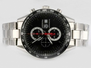 Great Tag Heuer Carrera Working Chronograph with Black Dial and Bezel AAA Watches [R1U5]