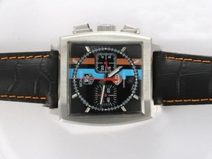Quintessential Tag Heuer Monaco Working Chronograph with Black Dial AAA Watches [G1G1]