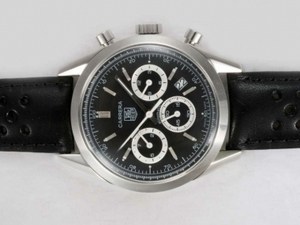 Vintage Tag Heuer Carrera Chronograph Automatic with Black Dial-Deployment AAA Watches [I4S2]
