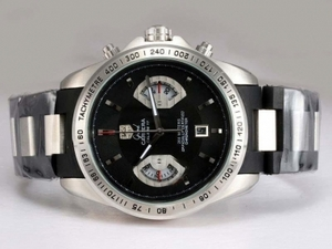 Vintage Tag Heuer Grand Carrera Calibre 17 Working Chronograph with Black Dial AAA Watches [U4D1]