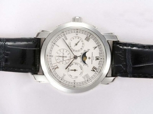 Cool Vacheron Constantin Patrimony Perpetual Moonphase with White Dial AAA Watches [I4T9]