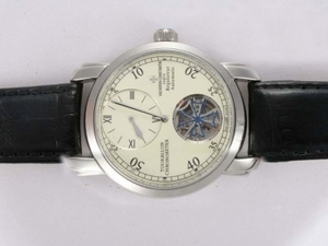 Cool Vacheron Constantin Tourbillon Regulateur Automatic with White Dial AAA Watches [I4M5]