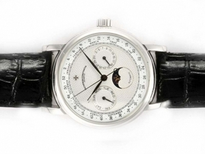 Fancy Vacheron Constantin Classic Chronograph Automatic with White Dial AAA Watches [W5A7]