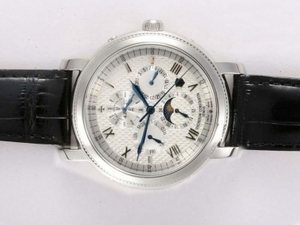 Fancy Vacheron Constantin Malte Chronograph Automatic with White Dial AAA Watches [F9W9]