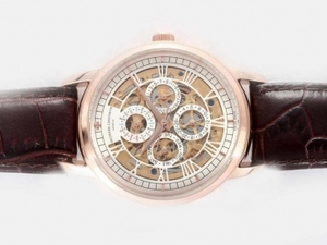 Gorgeous Vacheron Constantin Chronometre Royal Automatic Rose Gold Case AAA Watches [N5G2]