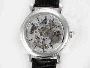 Gorgeous Vacheron Constantin Skeleton Automatic Silver Casing AAA Watches [V6K6]