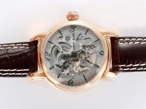 Gorgeous Vacheron Constantin Skeleton Automatic Gold Casing AAA Watches [C9M9]