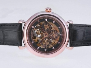 Great Vacheron Constantin Skeleton Perpetual Calender with Rose Gold Case AAA Watches [L5M9]