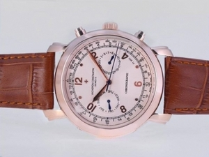 Modern Vacheron Constantin Malte Chronograph Automatic Rose Gold Case AAA Watches [K5O2]