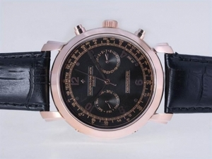 Popular Vacheron Constantin Malte Chronograph Automatic Rose Gold Case AAA Watches [L1C4]